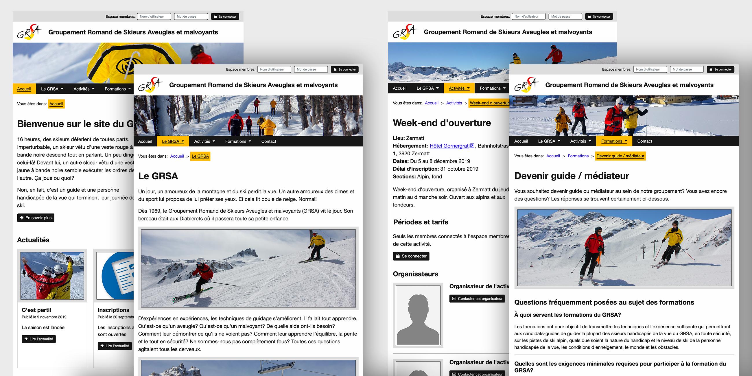 Groupement Romand de Skieurs Aveugles et malvoyants